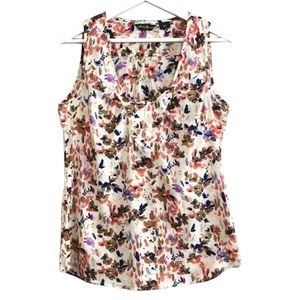 Eddie Bauer Sleeveless Colorful Printed Top Size S